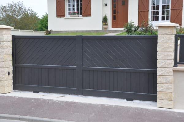 Portail aluminium PARIS droit