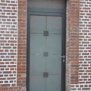 Porte aluminium TECHNAL vitrage VERRISSIMA